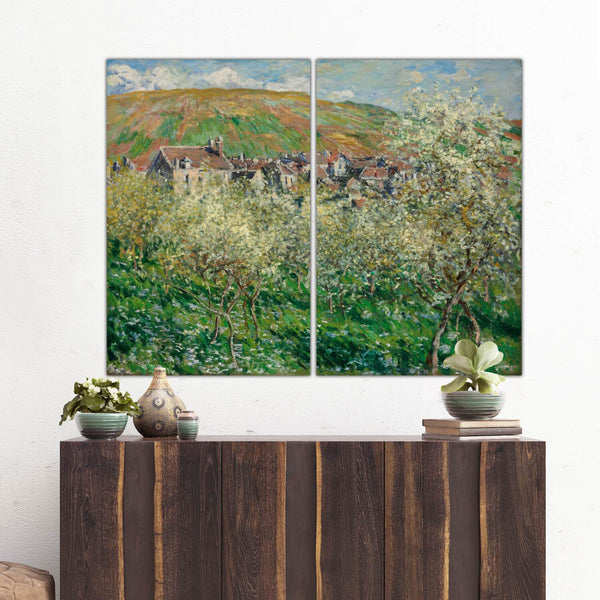 Monet Plum Trees in Blossom on Canvas - Extra Large Wall Art - Canvas Wall Art - HolyCowCanvas