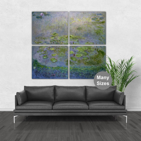 Monet Water Lilies Canvas - Extra Large Wall Art - Canvas Wall Art - HolyCowCanvas