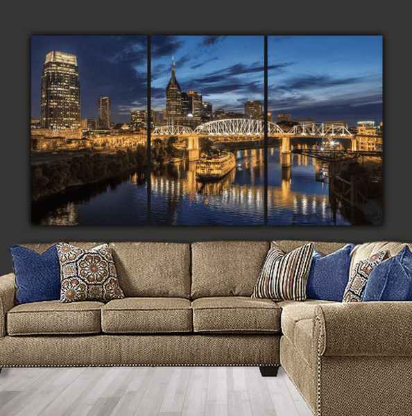 Nashville Tennessee Skyline on Canvas - Canvas Wall Art - HolyCowCanvas