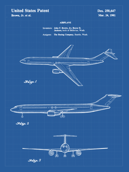 Travel Patent Airplane Print Art on Canvas - Canvas Wall Art - HolyCowCanvas