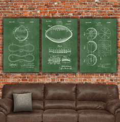 Sports Patent Print Set on Canvas - Canvas Wall Art - HolyCowCanvas