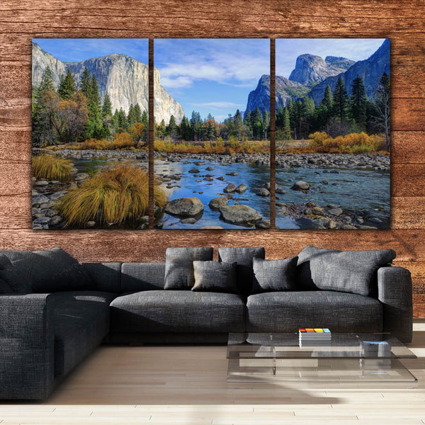 Yosemite Gates of the Valley - Canvas Wall Art - HolyCowCanvas