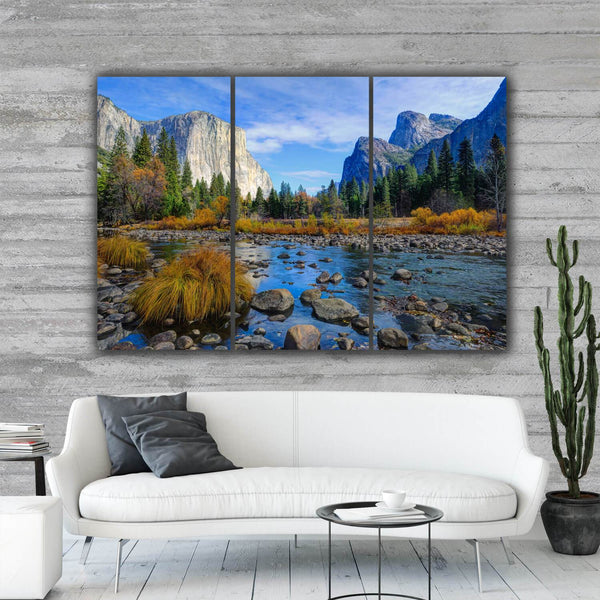 Yosemite Gates of the Valley Wall Art - Canvas Wall Art - HolyCowCanvas