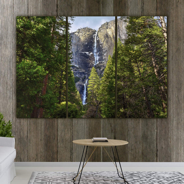 Yosemite Falls Nature Artwork on Canvas - Canvas Wall Art - HolyCowCanvas