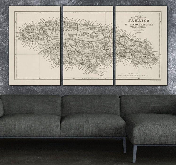 Any Country Vintage Map on Canvas - Canvas Wall Art - HolyCowCanvas