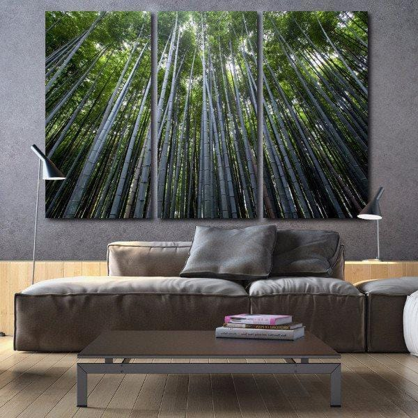 Bamboo Trees Wall Art on Canvas - Canvas Wall Art - HolyCowCanvas
