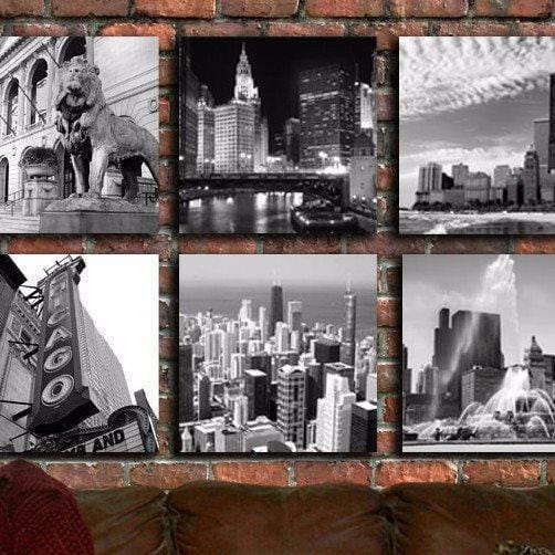 Big Chicago Set of Canvas - Canvas Wall Art - HolyCowCanvas