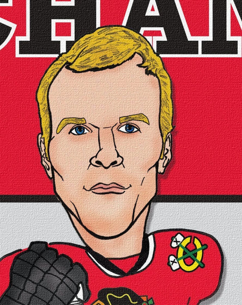 Blackhawks Illustration - 2013 Stanley Cup - Canvas Wall Art - HolyCowCanvas