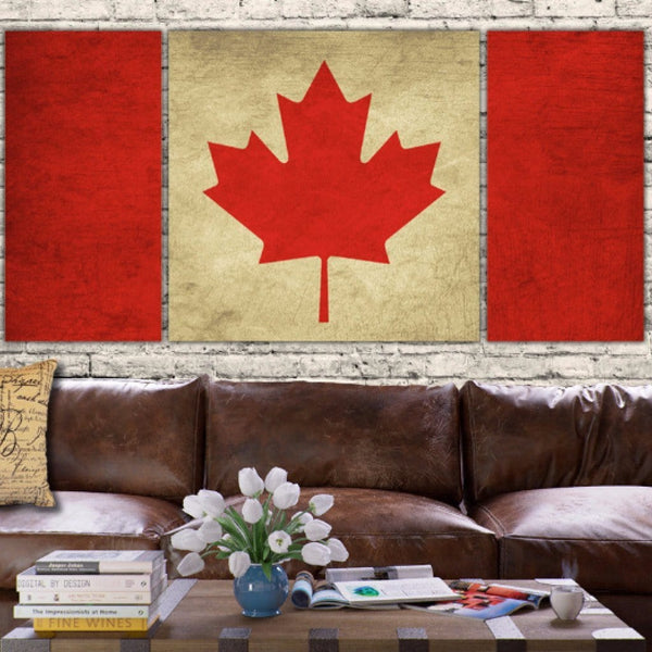 Canada Flag Canvas Wall Art - Canvas Wall Art - HolyCowCanvas