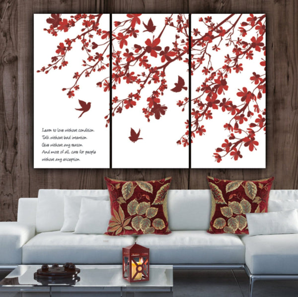 Cherry Blossom Wall Art on Canvas - Canvas Wall Art - HolyCowCanvas