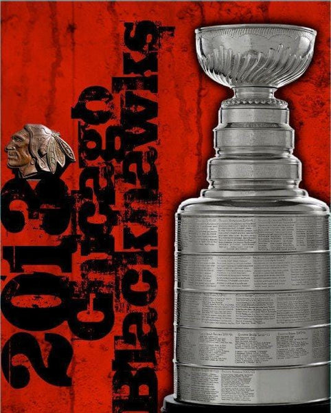 Chicago Blackhawks 2013 Champions Canvas Art - Canvas Wall Art - HolyCowCanvas