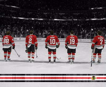 "Chicago Blackhawks Fab 5 Canvas Art (20"" x 16"")"