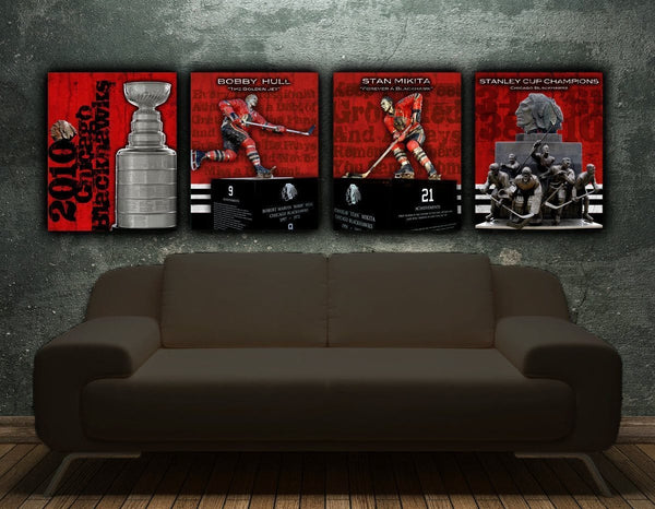 Chicago Blackhawks Single Print - Canvas Wall Art - HolyCowCanvas
