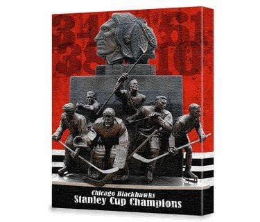 Chicago Blackhawks Stanley Cup Champs - Canvas Wall Art - HolyCowCanvas