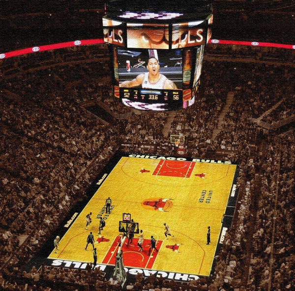 Chicago Bulls Stadium on Canvas - Canvas Wall Art - HolyCowCanvas