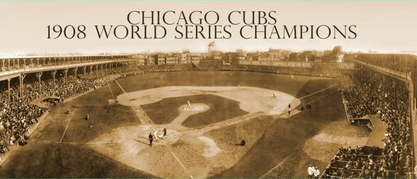 Chicago Cubs 1908 World Series Champions Canvas - Canvas Wall Art - HolyCowCanvas
