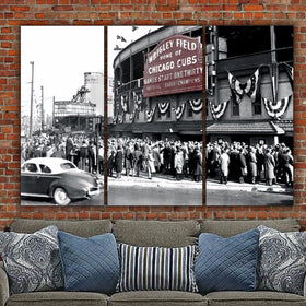 Chicago Cubs Wrigley Field 1945 World Series Canvas