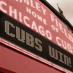 Chicago Cubs Wrigley Field Marquee Canvas - Canvas Wall Art - HolyCowCanvas