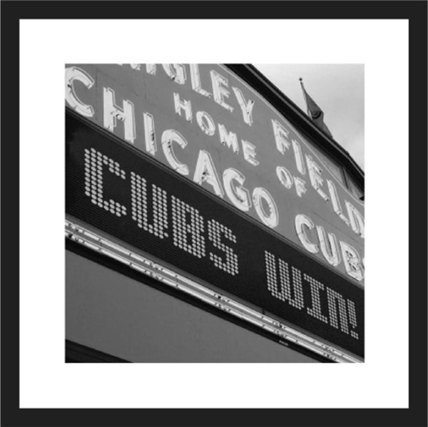 Chicago Cubs Wrigley Field Print Framed Wall Art - Canvas Wall Art - HolyCowCanvas