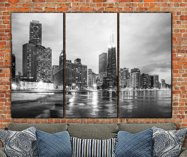 Chicago Lakefront Canvas Wall Art - Canvas Wall Art - HolyCowCanvas