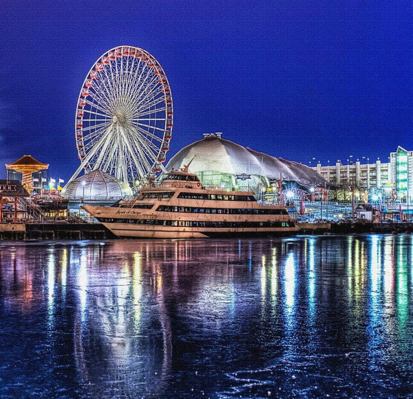 Chicago Navy Pier Canvas Wall Art - Canvas Wall Art - HolyCowCanvas