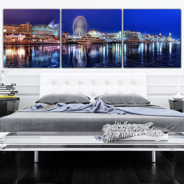 Chicago Navy Pier Canvas Set - Canvas Wall Art - HolyCowCanvas