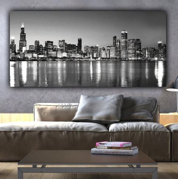 Chicago Panoramic Canvas Wall Art - Canvas Wall Art - HolyCowCanvas
