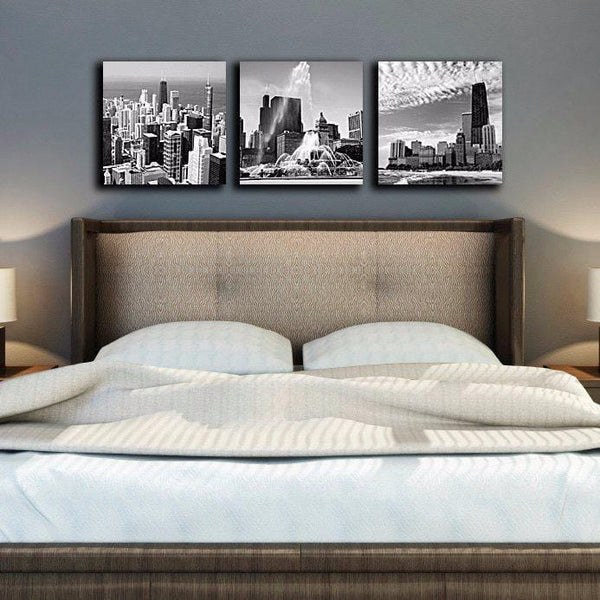 Chicago Skyline Canvas Set - Canvas Wall Art - HolyCowCanvas