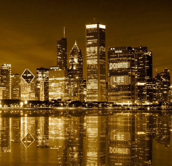 Chicago Skyline Gold Coast Canvas Set - Canvas Wall Art - HolyCowCanvas