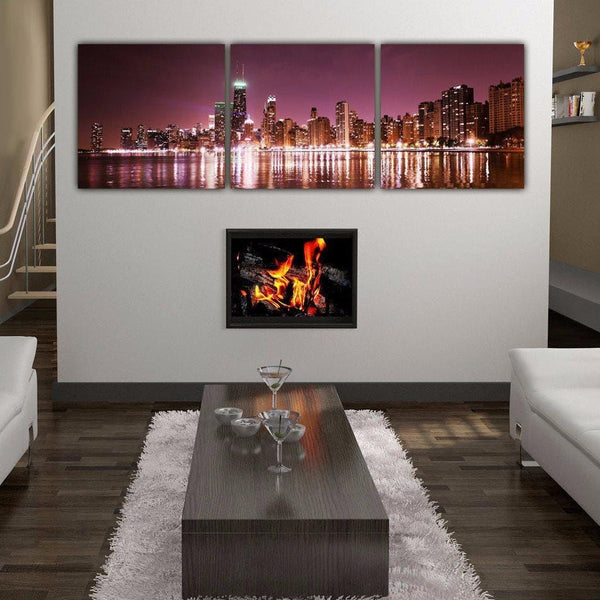 Chicago Skyline on Canvas - Set of 3 - Canvas Wall Art - HolyCowCanvas