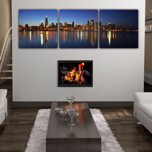 Chicago Skyline Wall Art Set - Canvas Wall Art - HolyCowCanvas
