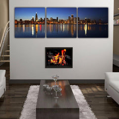 Chicago Skyline Panoramic Canvas - Canvas Wall Art - HolyCowCanvas