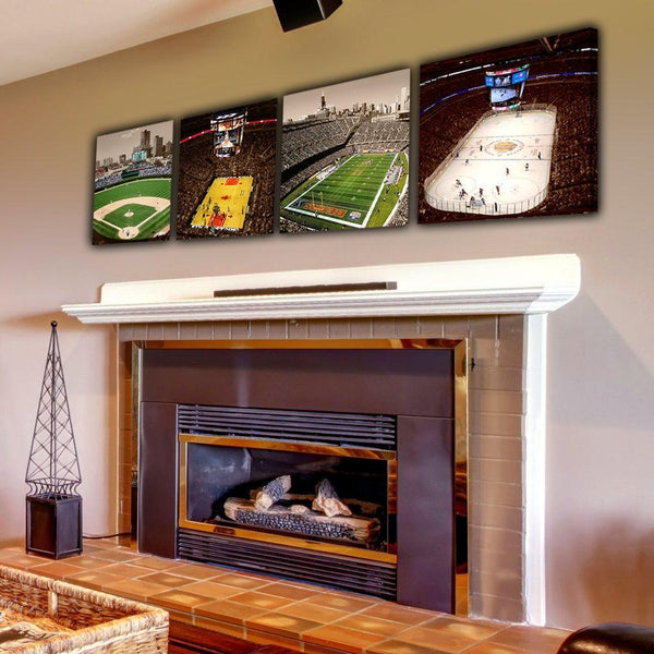 Chicago Sports Stadium Set - Canvas Wall Art - HolyCowCanvas