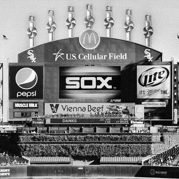 White Sox U.S. Cellular Field Canvas Art - Canvas Wall Art - HolyCowCanvas