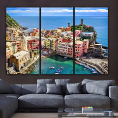 Cinque Terre Italy on Canvas - Canvas Wall Art - HolyCowCanvas
