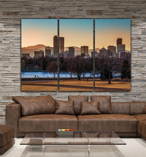 Denver Skyline Canvas Wall Art - Canvas Wall Art - HolyCowCanvas