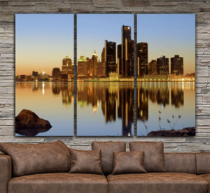 Detroit Skyline Wall Art
