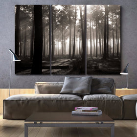Forest Wall Art on Canvas - Set of 3