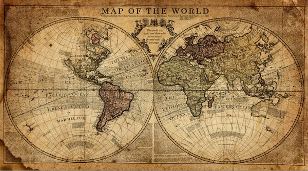Globe Tan Map World Map Canvas - Canvas Wall Art - HolyCowCanvas