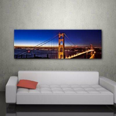 Golden Gate Bridge at Night Canvas Wall Art - Canvas Wall Art - HolyCowCanvas