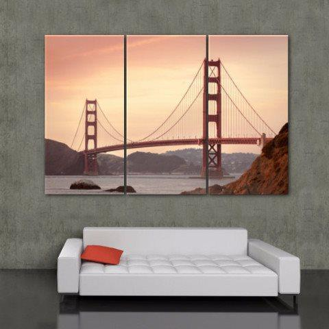 Golden Gate Bridge Canvas Wall Art - Canvas Wall Art - HolyCowCanvas