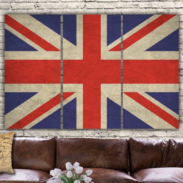 Great Britain Flag Canvas Wall Art - Canvas Wall Art - HolyCowCanvas