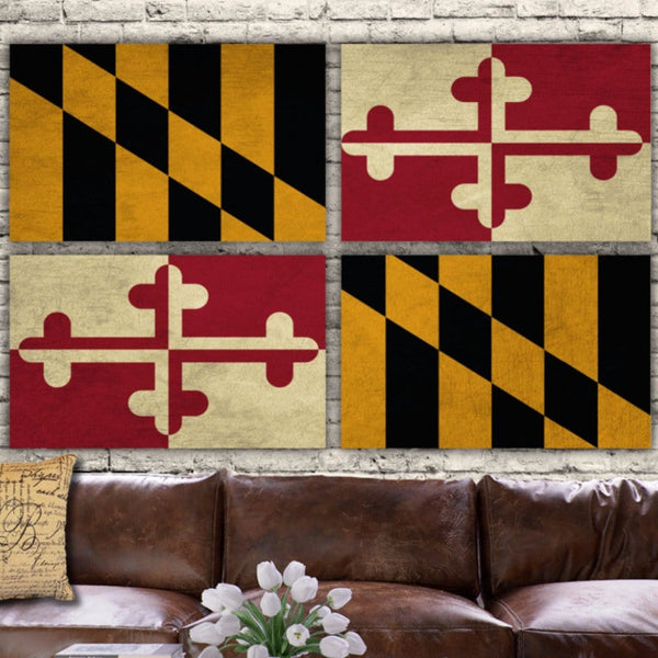 Maryland State Flag Canvas Wall Art - Canvas Wall Art - HolyCowCanvas