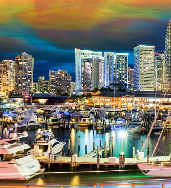 Miami Skyline Canvas Wall Art - Canvas Wall Art - HolyCowCanvas