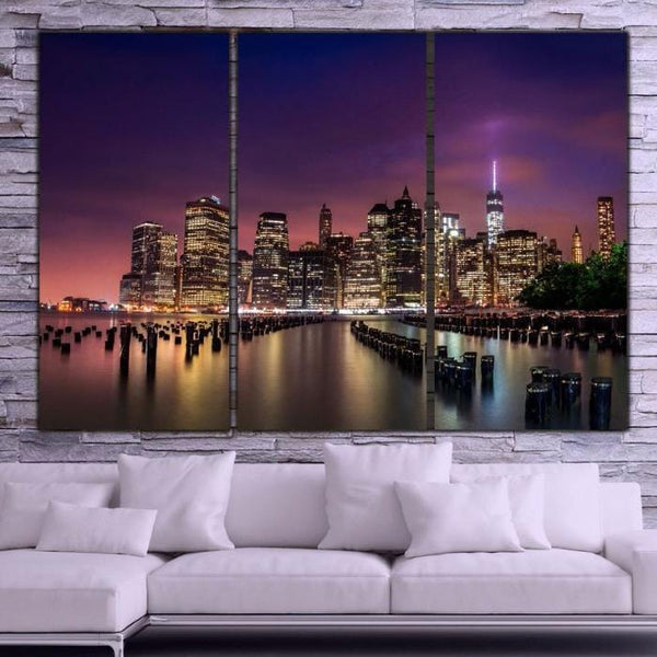 NYC Sunset Canvas Wall Art - Canvas Wall Art - HolyCowCanvas