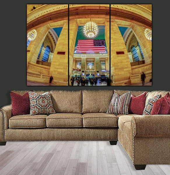 New York Grand Central Station Canvas Art - Canvas Wall Art - HolyCowCanvas