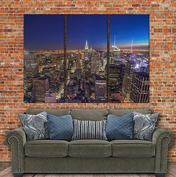 New York Skyline Canvas Wall Art - Canvas Wall Art - HolyCowCanvas