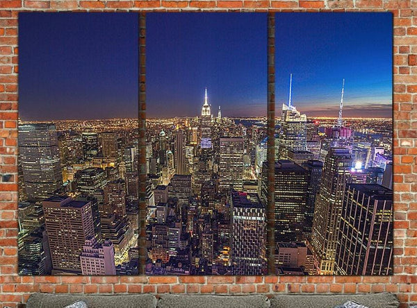 New York Skyline at Dusk - Canvas Wall Art - Canvas Wall Art - HolyCowCanvas