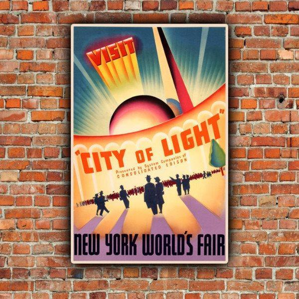 1939 New York World's Fair Posters - Canvas Wall Art - HolyCowCanvas