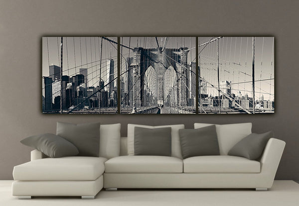 NYC Brooklyn Bridge Canvas Wall Art - Canvas Wall Art - HolyCowCanvas